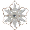 "5.25"" Gold Glitter Winter Snowflake Christmas Ornament"