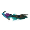 "8"" Blue, Green and Purple Sequins Peacock Bird Clip-On Christmas Ornament"