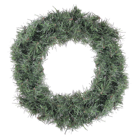"12"" Green Mini Canadian Pine Artificial Christmas Wreath - Unlit"