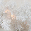 "9' x 12"" Pre-Lit Snow White Artificial Christmas Garland - Clear Lights"