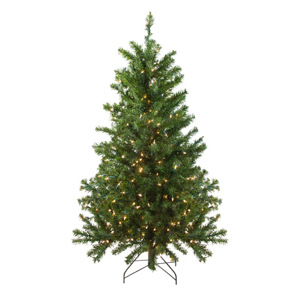 4' Pre-Lit Canadian Pine Medium Artificial Christmas Tree - Clear Lights