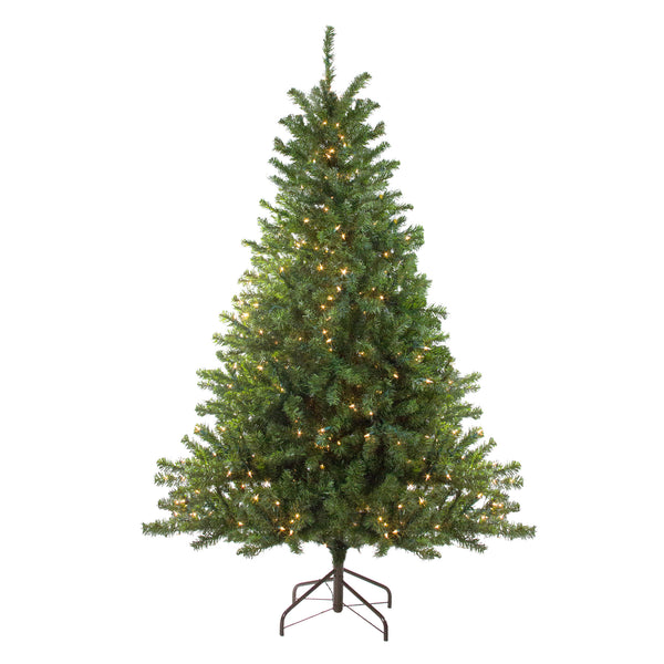 8' Pre-Lit Medium Canadian Pine Artificial Christmas Tree - Clear Lights