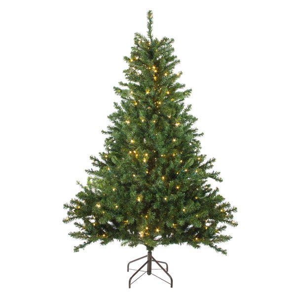 6' Pre-Lit Medium Canadian Pine Artificial Christmas Tree - Candlelight LED Lights