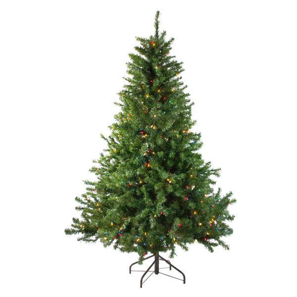 10' Pre-Lit Medium Canadian Pine Artificial Christmas Tree - Multicolor Lights