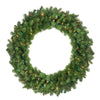 "36"" Pre-Lit Canadian Pine Artificial Christmas Wreath - Multi Lights"