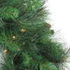"9' x 12"" Pre-Lit White Valley Pine Artificial Christmas Garland - Clear Lights"