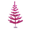 3' Medium Fuchsia Pink Tinsel Pine Artificial Christmas Twig Tree - Unlit
