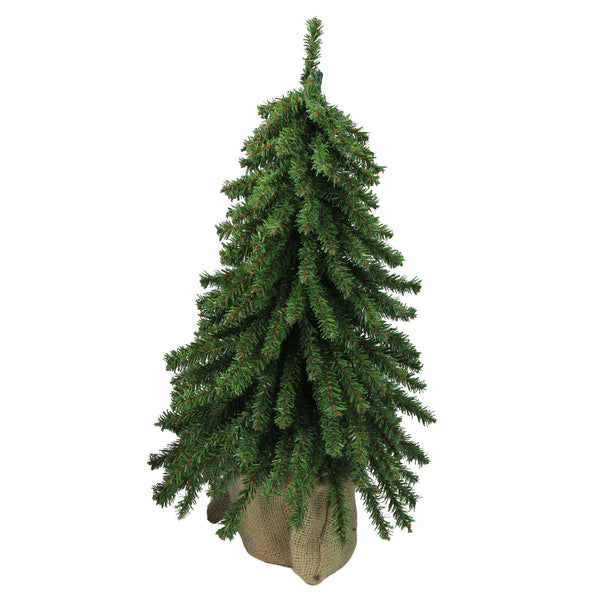 1.5' Potted Downswept Mini Village Pine Medium Artificial Christmas Tree - Unlit