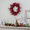 Red Berry Artificial Christmas Twig Wreath - 20-Inch, Unlit