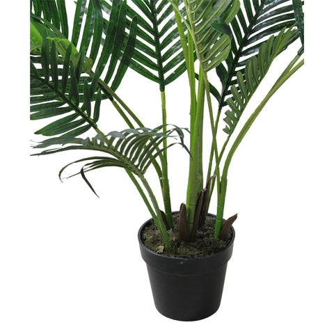 "69"" Green and Black Potted Artificial Areca Palm Tree"
