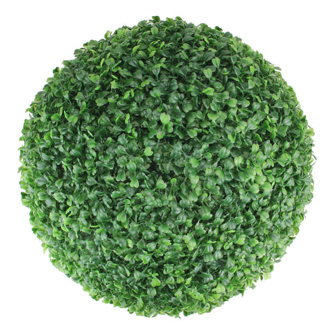 "12.25"" Two Tone Green Boxwood Artificial Topiary Garden Ball - Unlit"