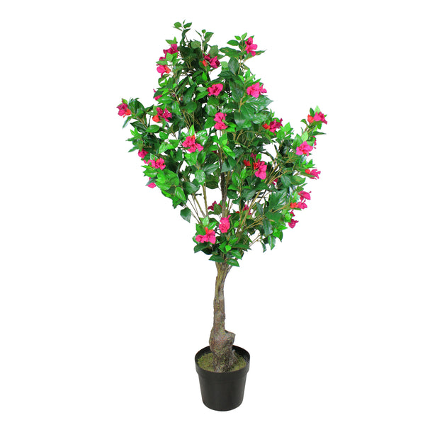 72 Potted Artificial Pink and Red Bougainvillea Tree