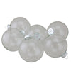 "6ct Clear and Silver Glass Christmas Ball Ornaments 3.25"" (80mm)"
