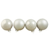 "4ct Pearl and Matte White Glass Ball Christmas Ornaments 4"" (100mm)"