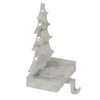 "8"" White and Black Marbled Christmas Tree Stocking Holder"