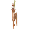 "4.75"" Shiny Rose Gold Metal Reindeer Christmas Tree Ornament"