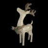 "37"" White and Brown Lighted Sparkling Standing Reindeer Outdoor Christmas Decor"