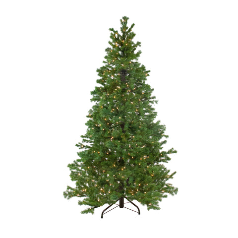 6.5' Pre-Lit Pine Artificial Christmas Tree - Clear Lights