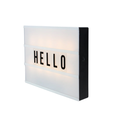 "12"" Battery Operated LED Lighted A4 Light Box with Letters and Numbers"