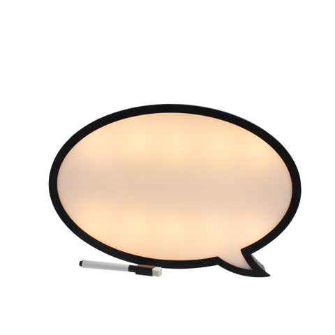 "13"" Battery Operated LED Lighted Speech Bubble White Board"