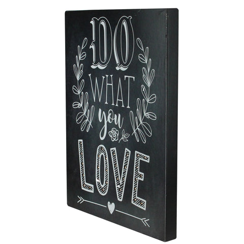"16"" Black Battery Operated LED Lighted Do What You Love Wall Sign"