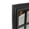 "17"" Black Contemporary Windowpane Square Wall Mirror"