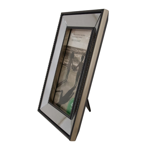 "Black Mirrored Picture Frame- 4"" x 6"""