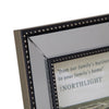 "Black Mirrored Picture Frame- 5"" x 7"""