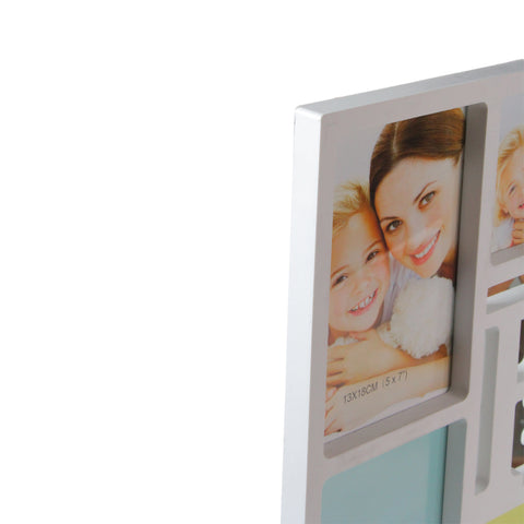 "28.75"" White Dual-Sized ""Family"" Photo Frame Collage Wall Decoration"