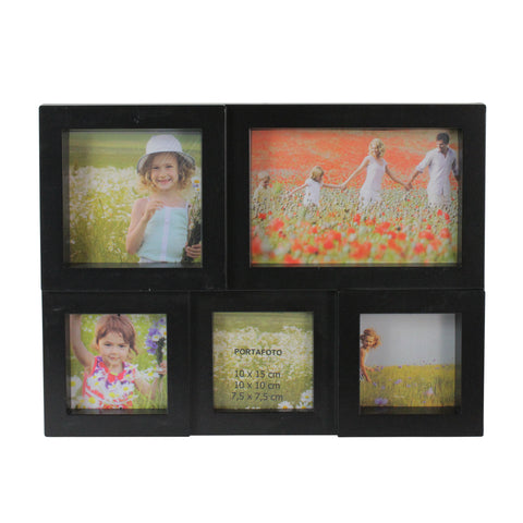 "11.5"" Black Multi-Sized Photo Frame Collage Wall Decoration"