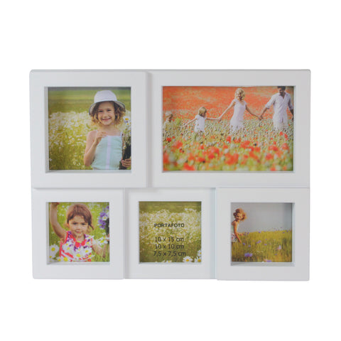 "11.5"" White Multi-Sized Puzzled Photo Picture Frame Collage Wall Decoration"