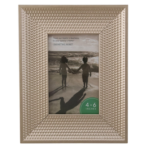 "Champagne Gold Honeycomb Picture Frame- 4"" x 6"""
