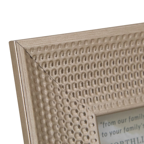 "Champagne Gold Honeycomb Picture Frame- 5"" x 7"""