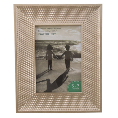 "10.25"" Champagne Gold Honeycomb Rectangular Photo Frame for 7"" x 5"" Photo"