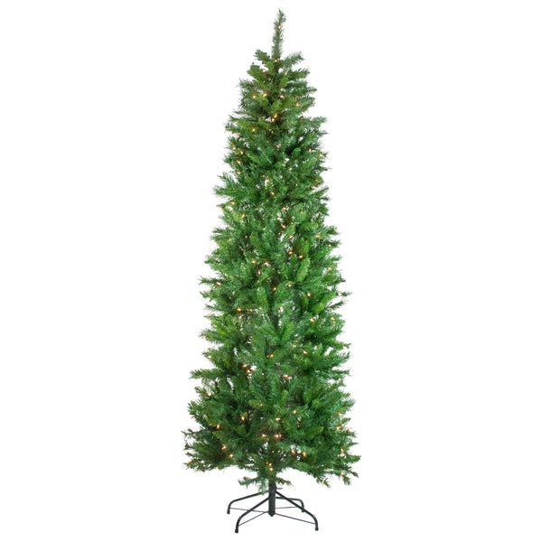 7.5' Pre-Lit Stillwater Spruce Pencil Artificial Christmas Tree - Clear Lights