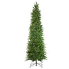 7.5' Pre-Lit Pencil Northwood Noble Fir Artificial Christmas Tree - Clear Lights