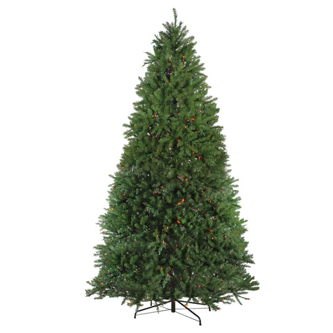 10' Pre-Lit Northern Pine Full Artificial Christmas Tree - Multi Lights