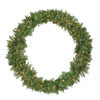 Pre-Lit Northern Pine Artificial Christmas Wreath - 48-Inch, Clear Lights