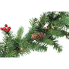 "9' x 10"" Pre-Lit Noble Fir with Berries Artificial Christmas Garland - Clear Lights"