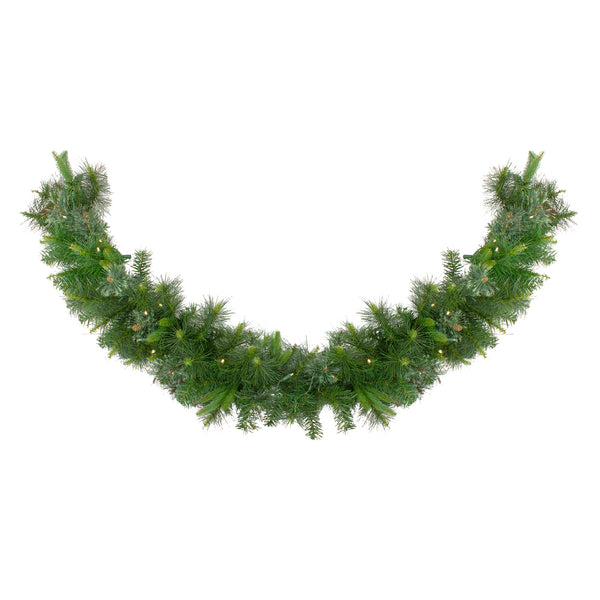 "6' x 14"" Pre-Lit Ashcroft Cashmere Pine Artificial Christmas Garland - Warm White LED Lights"