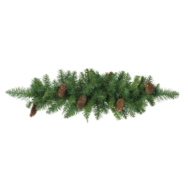 "32"" Green and Brown Pine Cones Artificial Christmas Swag - Unlit"