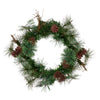 "16"" Country Mixed Pine Artificial Christmas Wreath - Unlit"