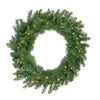 Pre-Lit Buffalo Fir Artificial Christmas Wreath - 30-Inch, Warm White LED Lights