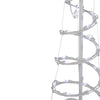 5' Pure White LED Lighted Spiral Cone Tree Outdoor Christmas Decoration