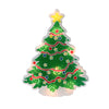 "12.5"" Lighted Holographic Christmas Tree Window Silhouette Decor"