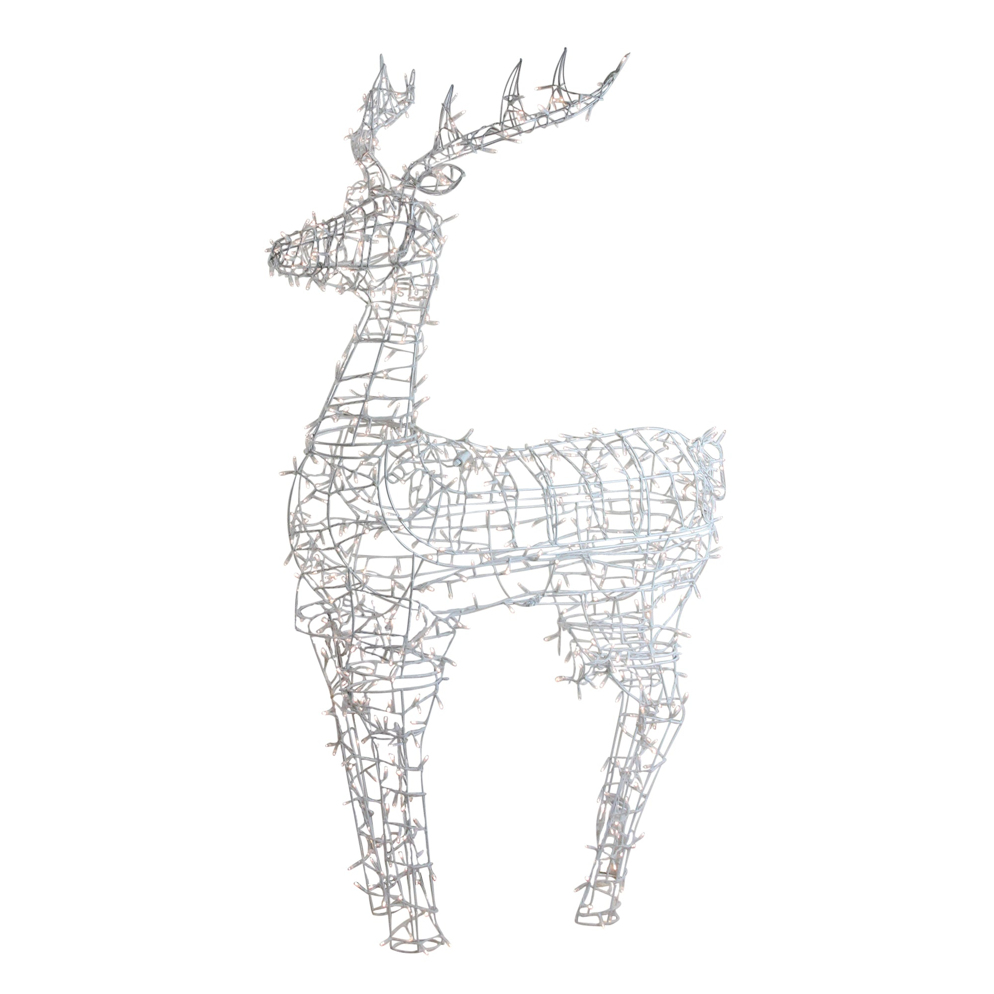 Lighted Standing Reindeer Outdoor Christmas Decoration W Warm White Led Lights 60