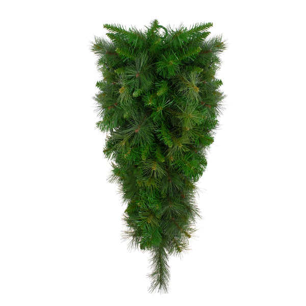"32"" Canyon Pine Artificial Christmas Teardrop Swag - Unlit"