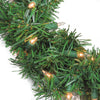 Pre-Lit Deluxe Windsor Pine Artificial Christmas Wreath - 10 inch, Clear Lights