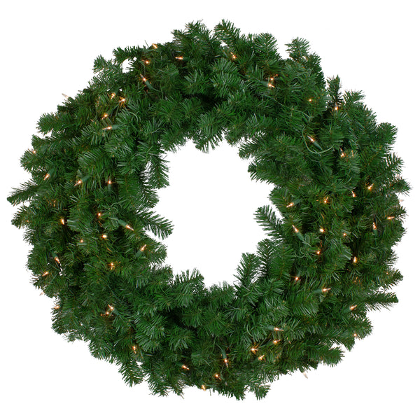 Pre-Lit Deluxe Windsor Pine Artificial Christmas Wreath - 36-Inch, Clear Lights