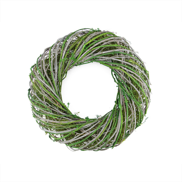 Twig and Moss Artificial Spring Time Wreath - 14-Inch, Unlit